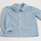Teal Check Baby Shirt