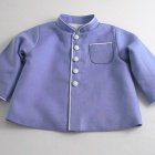 Blue Linen Officer Jacket