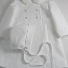 White Coat and Bonnet