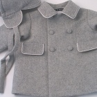 Grey Herringbone Wool Flannel  Boy's Coat and Cap