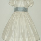 Ivory Silk Flower Girl Dress