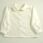 Ivory Scallop Collar Baby Blouse