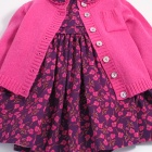 Liberty Ros Dress and Rose Pink Cardigan