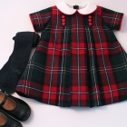 National Wool Tartan Baby Dress