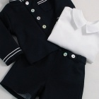 Navy Officer Jacket, Shorts and Shirt Set