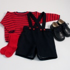 Navy Baby Shorts Set