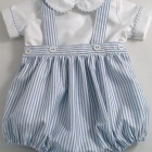 Oxford Stripe Baby Romper Suit