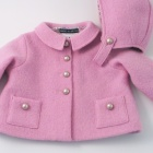 Pink Austrian Boiled Wool Jacket and Bonnet