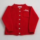 Red Lambswool Cardigan