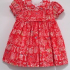 Liberty Red Yoshie Baby Dress