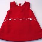 Red Merino/Lambswool Baby Pinafore Dress