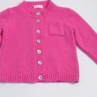 Rose Pink Lambswool Baby Cardigan