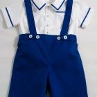 Royal Blue Shorts and Shirt Set