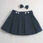 Navy Spot Wrap-over Skirt