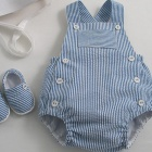 Striped Seersucker Sunsuit