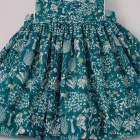 Liberty Teal Yoshie Baby Pinafore Dress