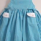 Turquoise Gingham Sleeveless Baby Dress