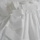 White Pique Dress and Bonnet