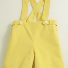 Yellow Flat Front Shorts/Straps