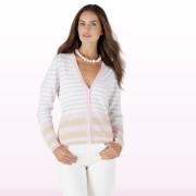 Cashmere Affair striped cardigan