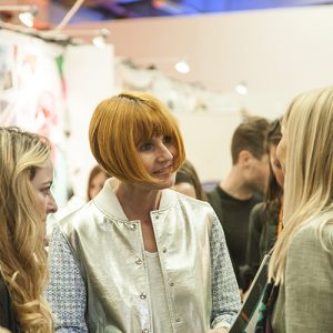 Mary Portas chatting with visitors and exhibitors. Photo courtesy of Steve Lancefield