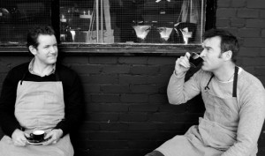 Richard and Gerard, founders and directors of Nude Espresso