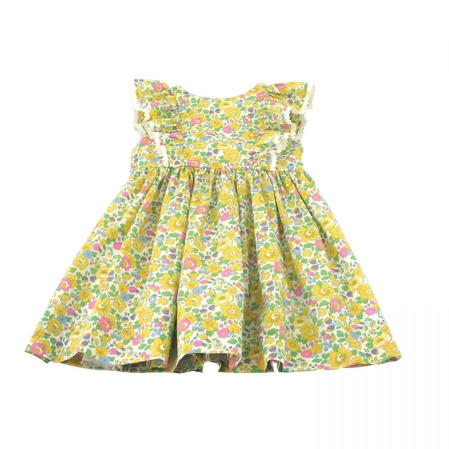 Liberty organic yellow betsy dress