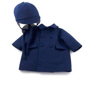 blue lambswool boys coat