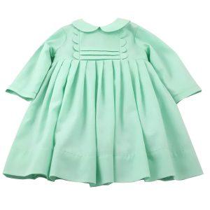 mint woolly cotton girls dress