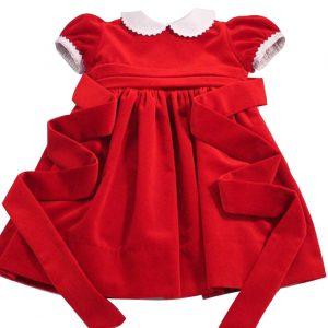 red velvet girls dress